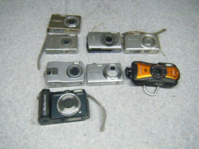 SB_N0021137K1 デジカメ8台 A640 WG-1 GPS S220 OPTIO M20 EX-Z300 910IS IXYDIGITAL50 EX-Z700
