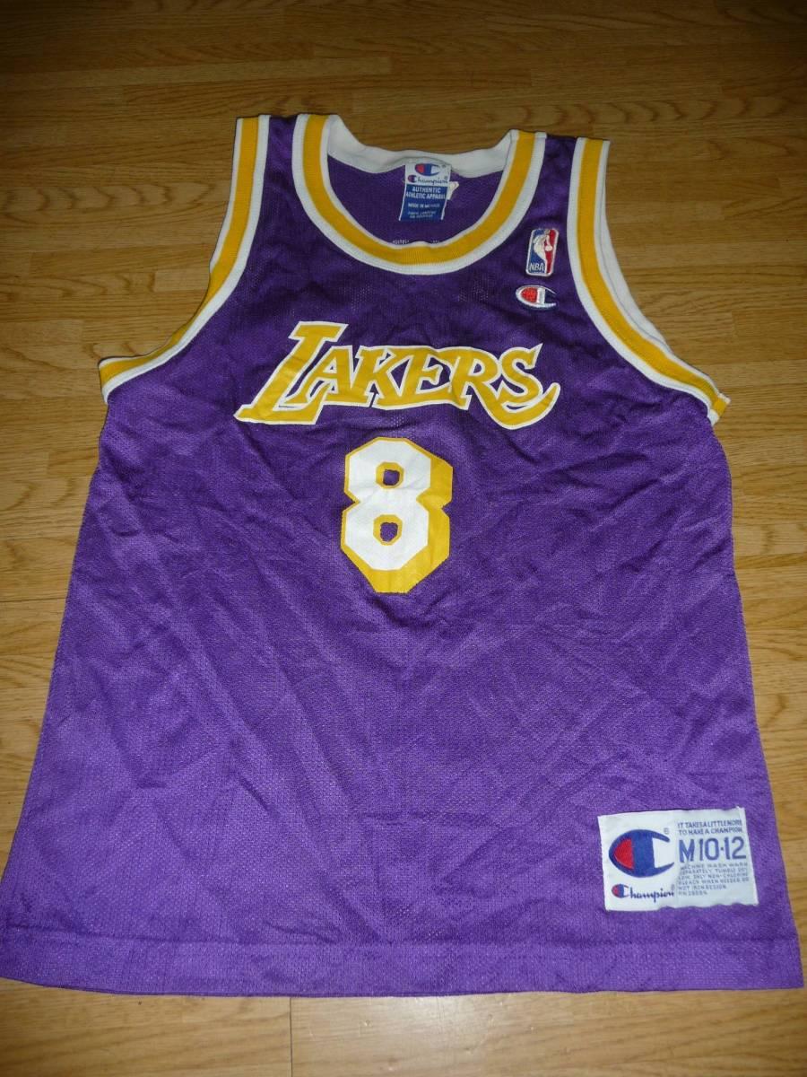 運賃込!チャンピオン正規品NBAロサンゼルス・レイカーズ子供用ユニフォーム背番号8コービー・ブライアント