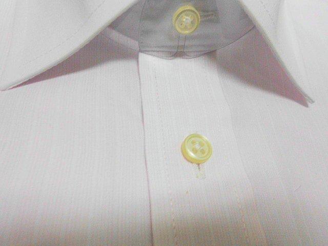■SUIT SELECT■クレリックシャツ 長袖 ■ 41-84 M ピンクストライプ 形態安定_画像1