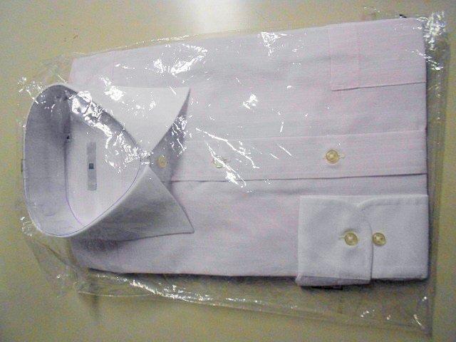 ■SUIT SELECT■クレリックシャツ 長袖 ■ 41-84 M ピンクストライプ 形態安定_画像5