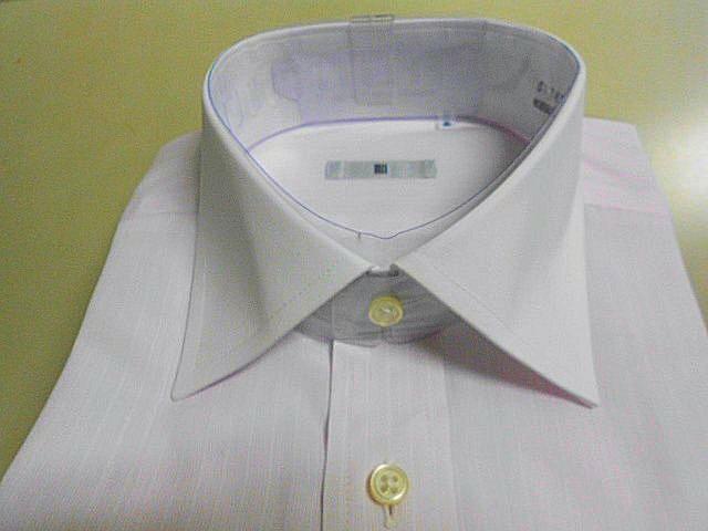 ■SUIT SELECT■クレリックシャツ 長袖 ■ 41-84 M ピンクストライプ 形態安定_画像3