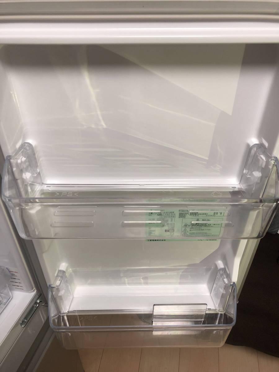 三菱 ノンフロン冷凍冷蔵庫 MR-P15Z-S シルバー 2ドア 146L ☆2016年製 【美品】_画像4