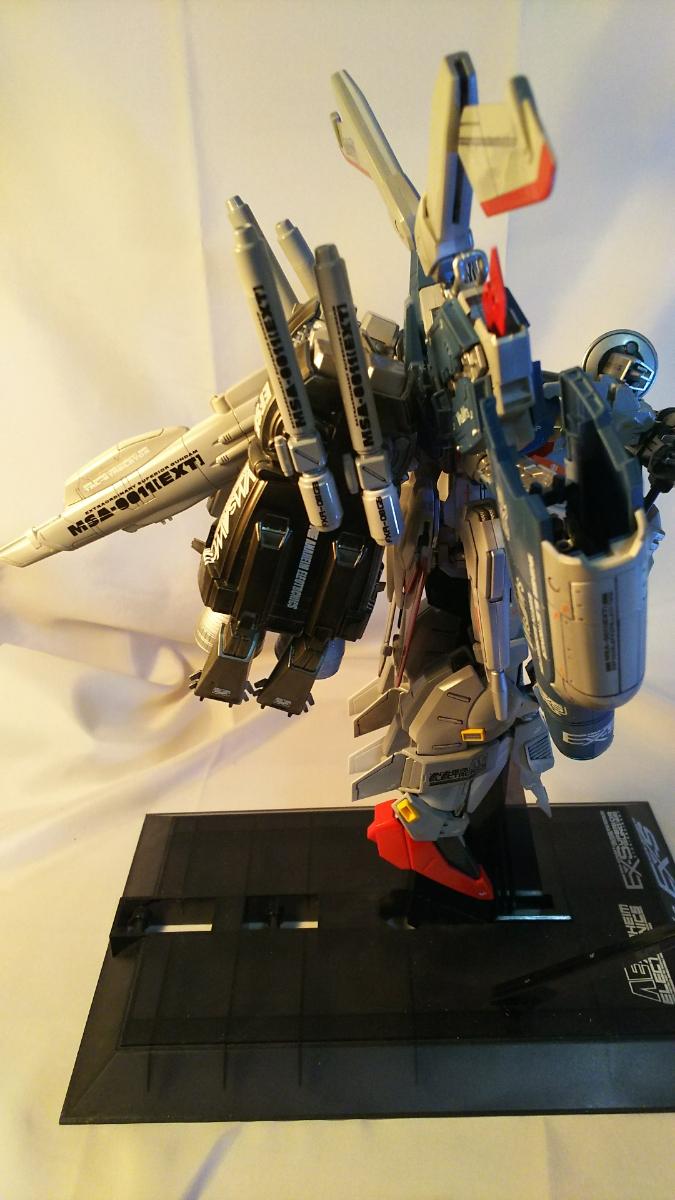 MG1/100Ex-Sガンダム肩換装パーツ取り付け、武装強化、改修、全塗装No.2_画像5