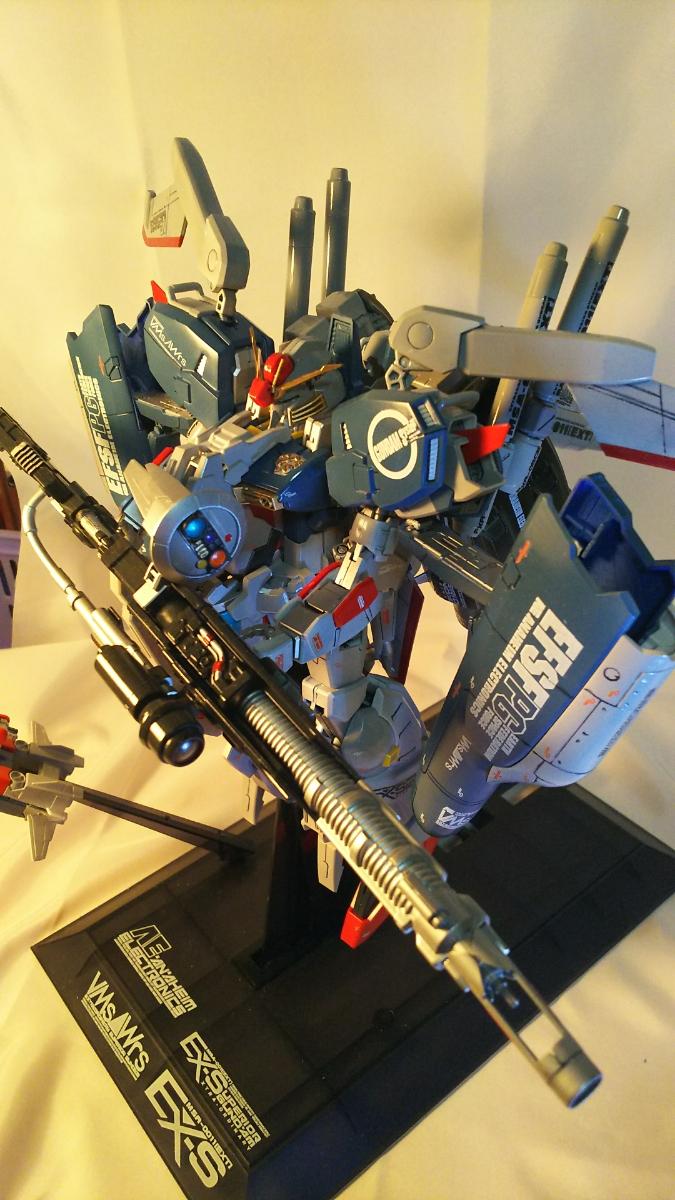 MG1/100Ex-Sガンダム肩換装パーツ取り付け、武装強化、改修、全塗装No.2_画像10
