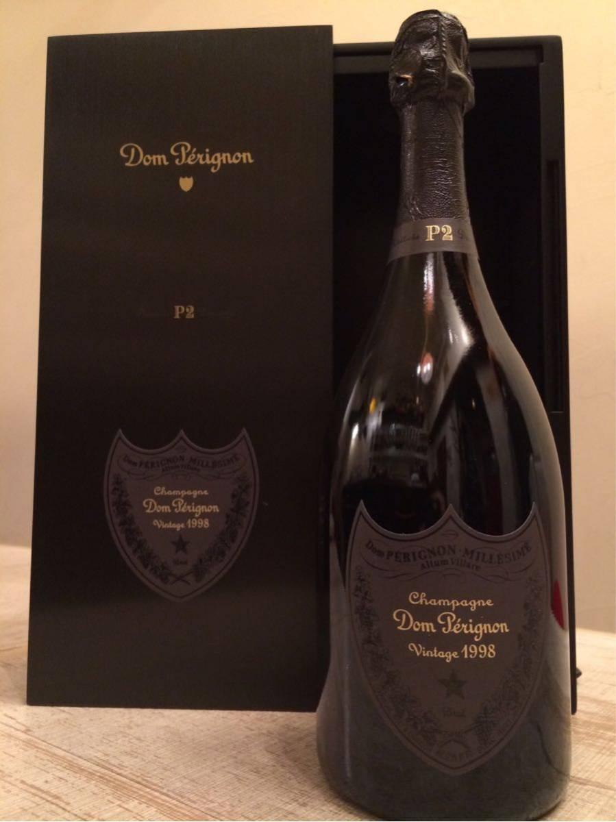 P2 ワインセラー保管品 ドン ペリニヨンP2 1998年 ビンテージ 未開封 専用アルミケース付 クール便でお届け ②