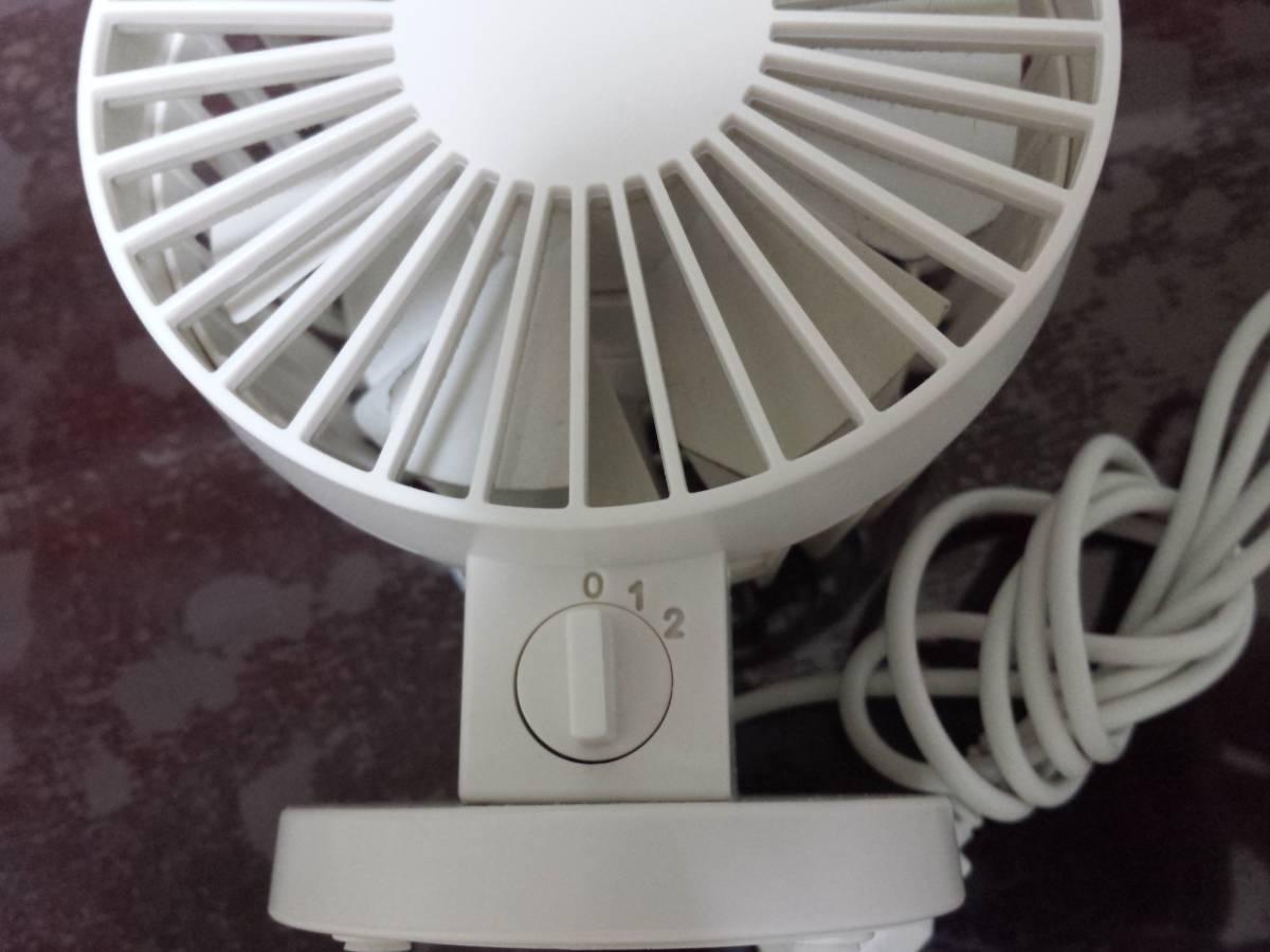 即決◇USB デスクファン 未使用品 ホワイト 白 卓上 ...