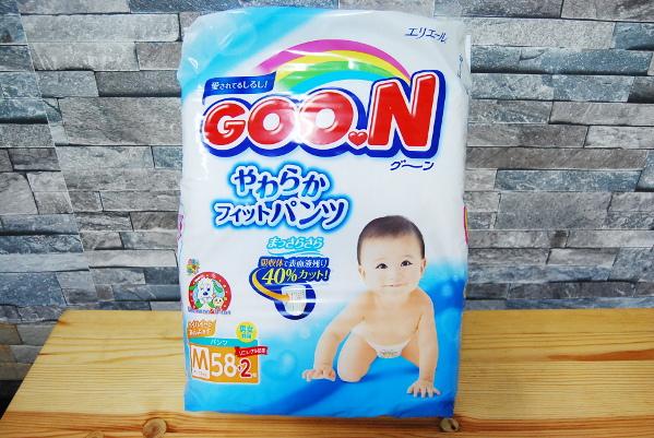 送料無料 新品 GOON グーン やわらかフィットパンツ Mサイズ (7~12kg) 58枚+2枚(60枚入り)×9パック
