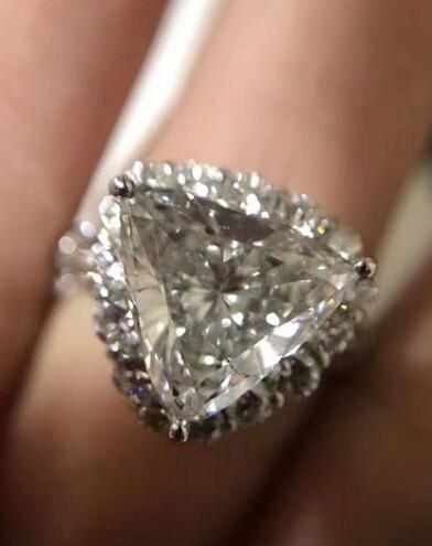 ダイヤリング DIAMOND PT900  ダイヤモンド 3.805ct! GカラーUP!SI2 中央宝石研究所 再落なし!!_画像5