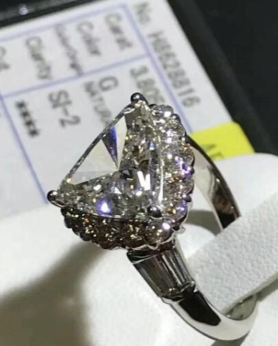 ダイヤリング DIAMOND PT900  ダイヤモンド 3.805ct! GカラーUP!SI2 中央宝石研究所 再落なし!!_画像4