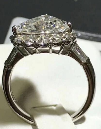 ダイヤリング DIAMOND PT900  ダイヤモンド 3.805ct! GカラーUP!SI2 中央宝石研究所 再落なし!!_画像2