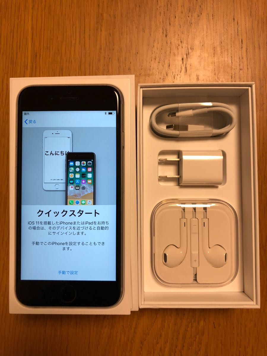 docomo iPhone6s 64GB スペースグレー SIMフリー済