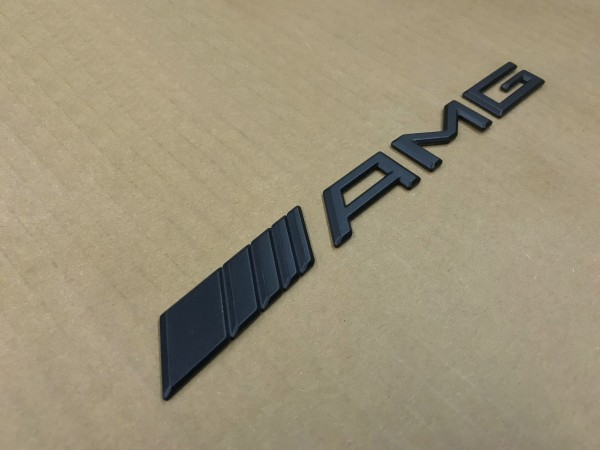 ベンツ AMG リア/マット/ブラック/エンブレム ロゴ Aクラス W168/W169/W176 GLA X156 Bクラス W245/W246 CLA W117/C117_画像3