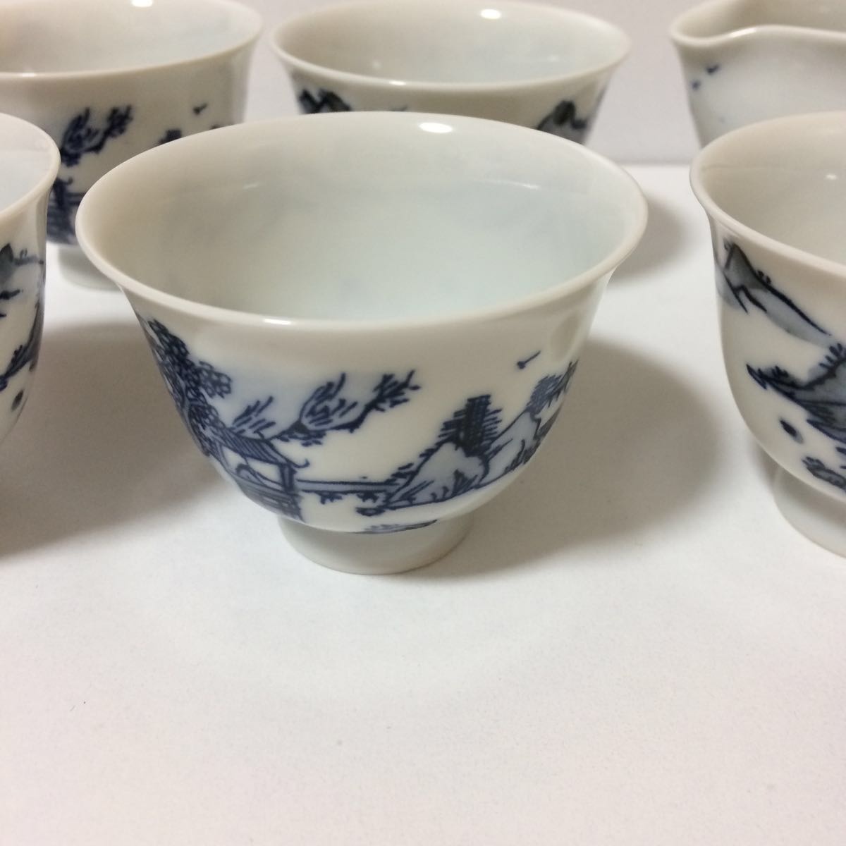 未使用 平安白鳳 茶器 セット 茶碗5客揃い 煎茶道具 煎茶器_画像6