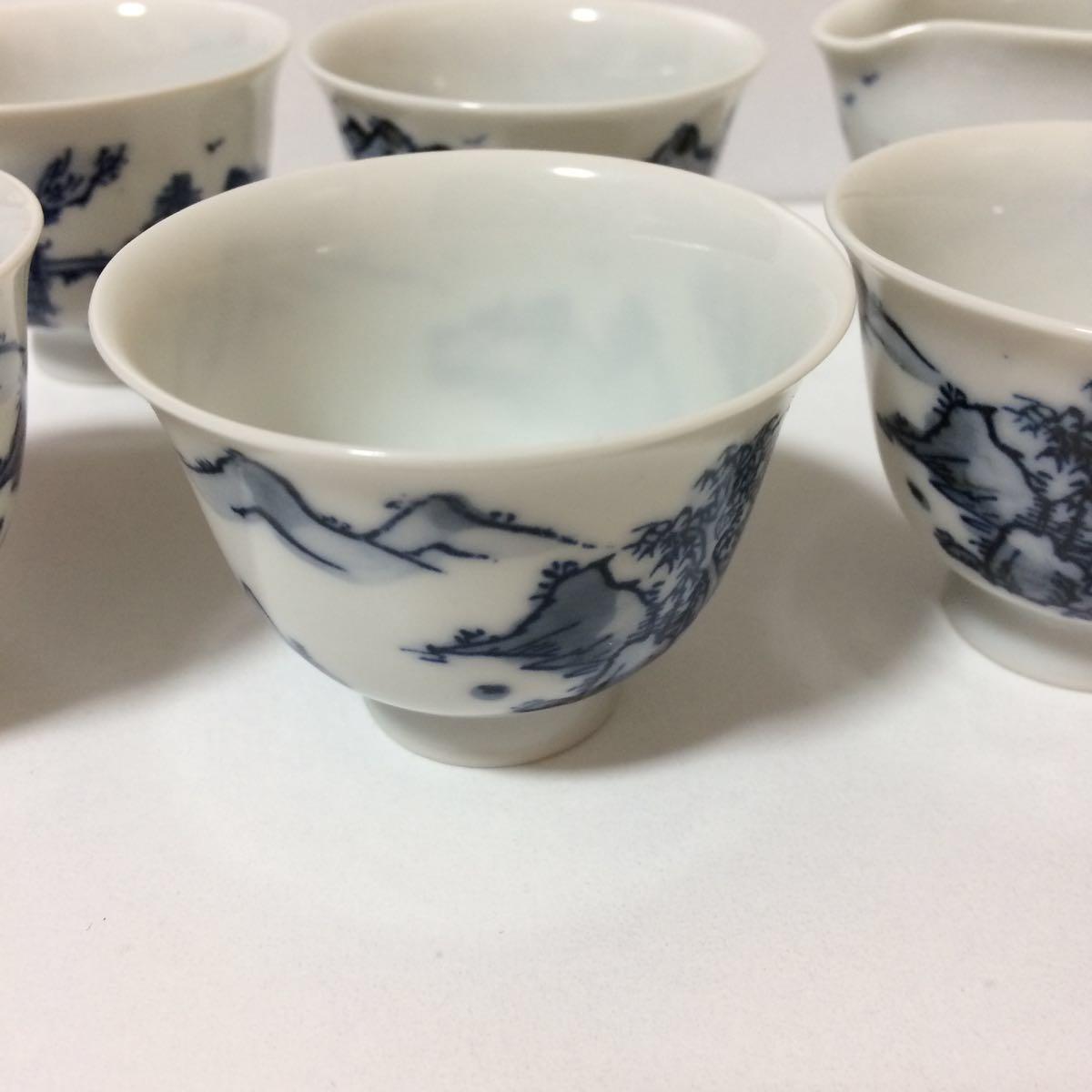 未使用 平安白鳳 茶器 セット 茶碗5客揃い 煎茶道具 煎茶器_画像4