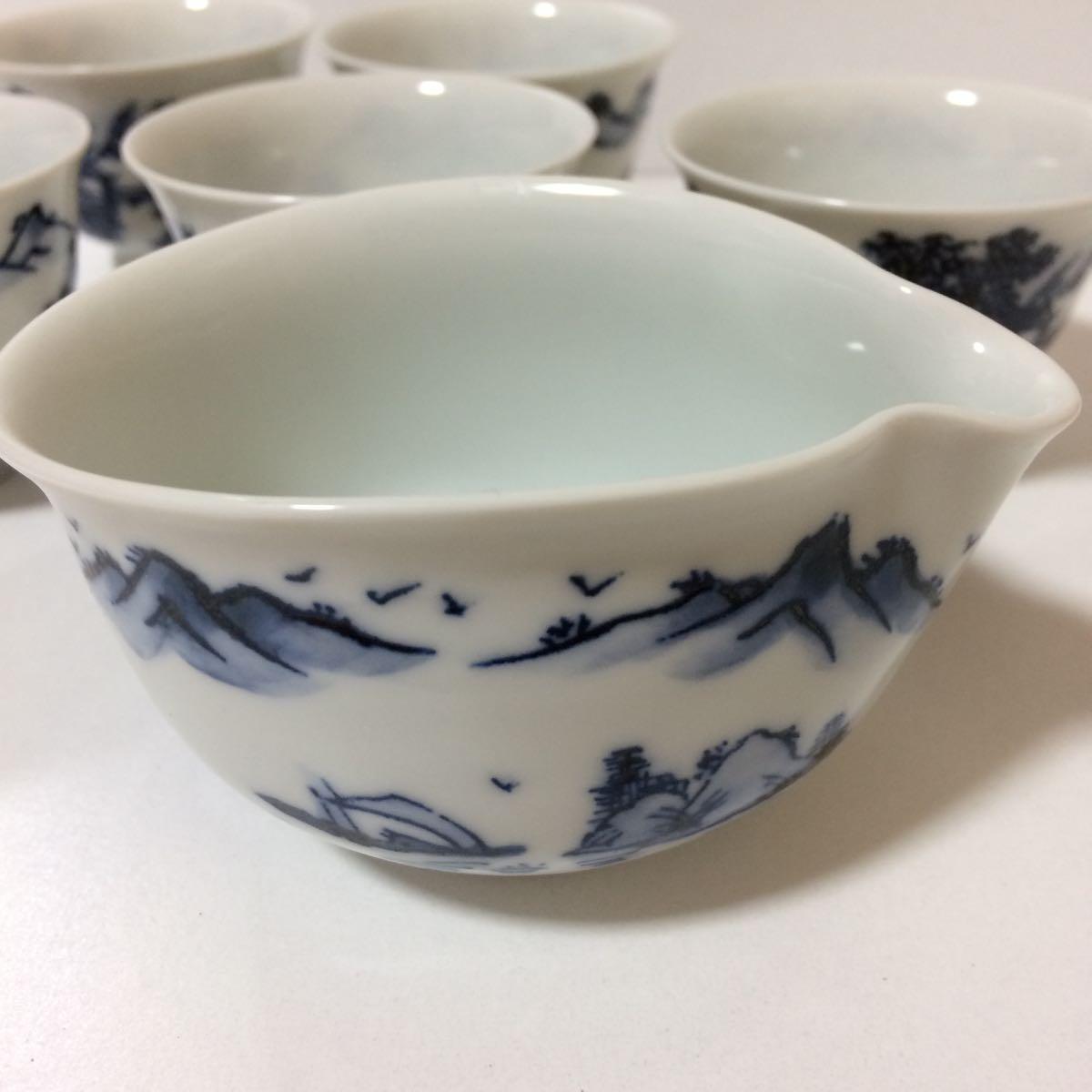 未使用 平安白鳳 茶器 セット 茶碗5客揃い 煎茶道具 煎茶器_画像9