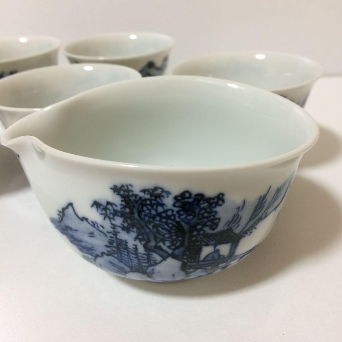 未使用 平安白鳳 茶器 セット 茶碗5客揃い 煎茶道具 煎茶器_画像8