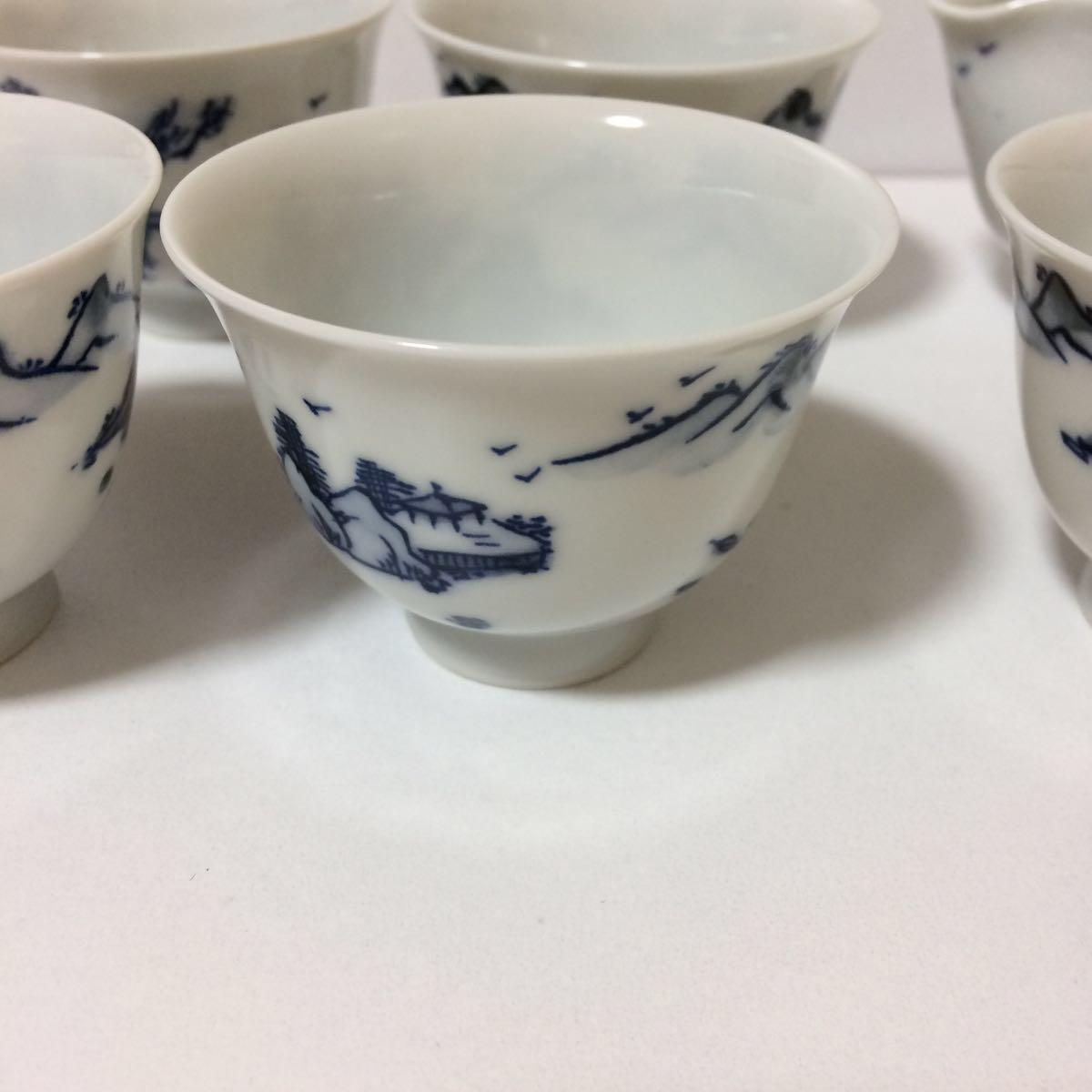 未使用 平安白鳳 茶器 セット 茶碗5客揃い 煎茶道具 煎茶器_画像7