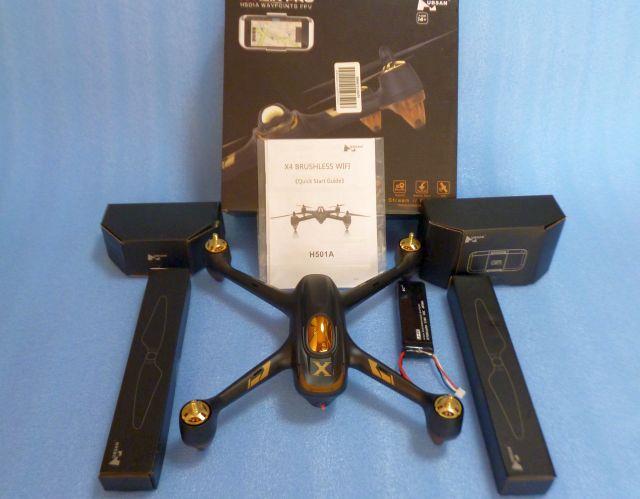 ★ジャンク Hubsan X4 AIR H501A App WiFi FPV 1080P HDカメラ GPS RC クアッドコプター BNF ドローン★