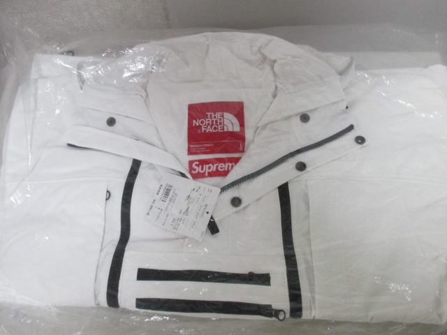 *1円〜 新品 国内正規 Supreme×THE NORTH FACE TNF ノースフェイス 16SS Steep Tech Hooded Jacket スティープテック White 白 L FK