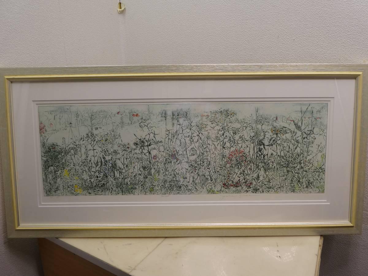 KB15B Joanne Isaac ジョアン・アイザック エッチング画「ノコギリ草」