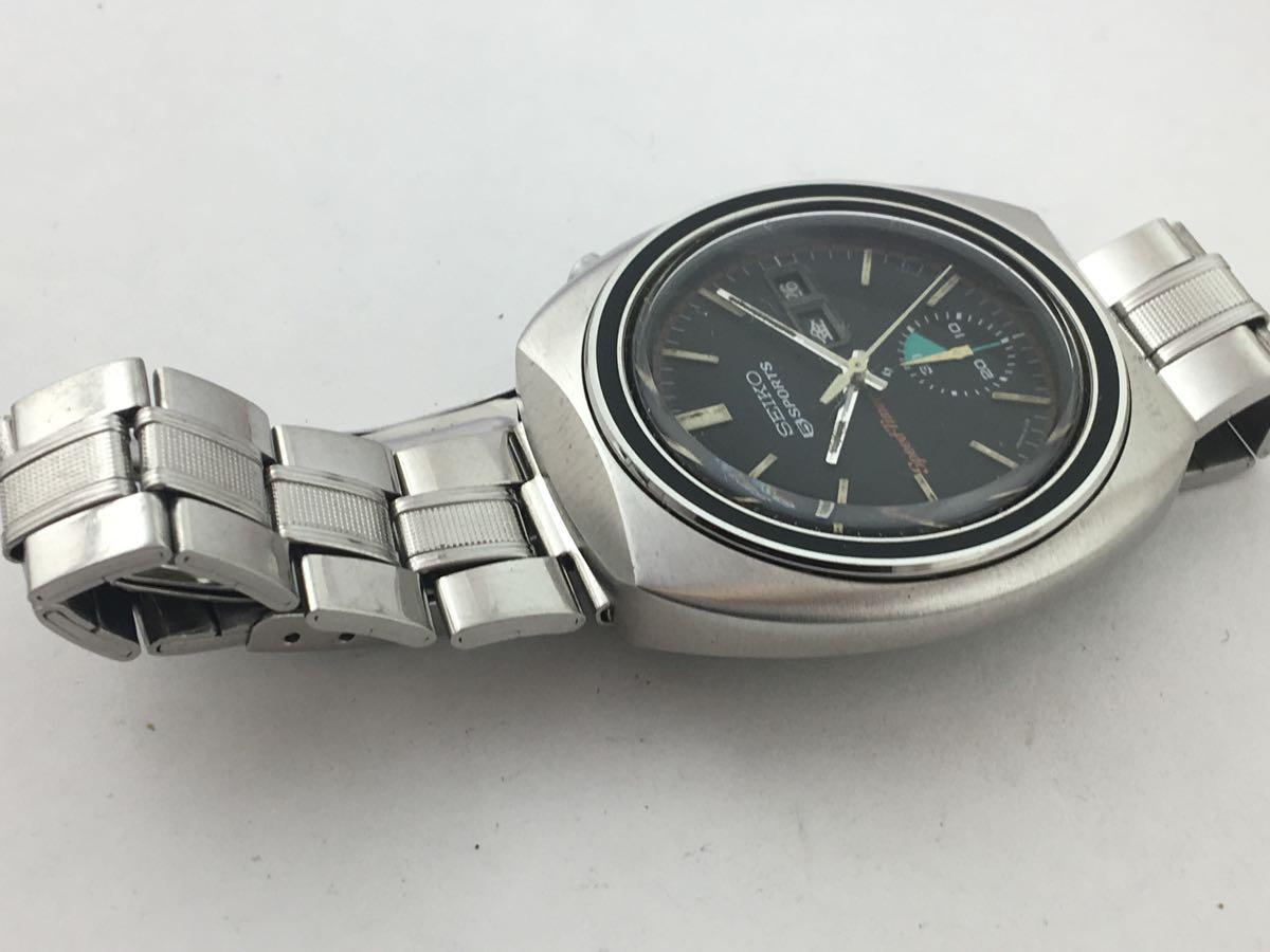 セイコー5スポーツ6139スピードタイマー腕時計メンズ機械式クロノグラフ分解掃除済みOH良好1円~_画像7