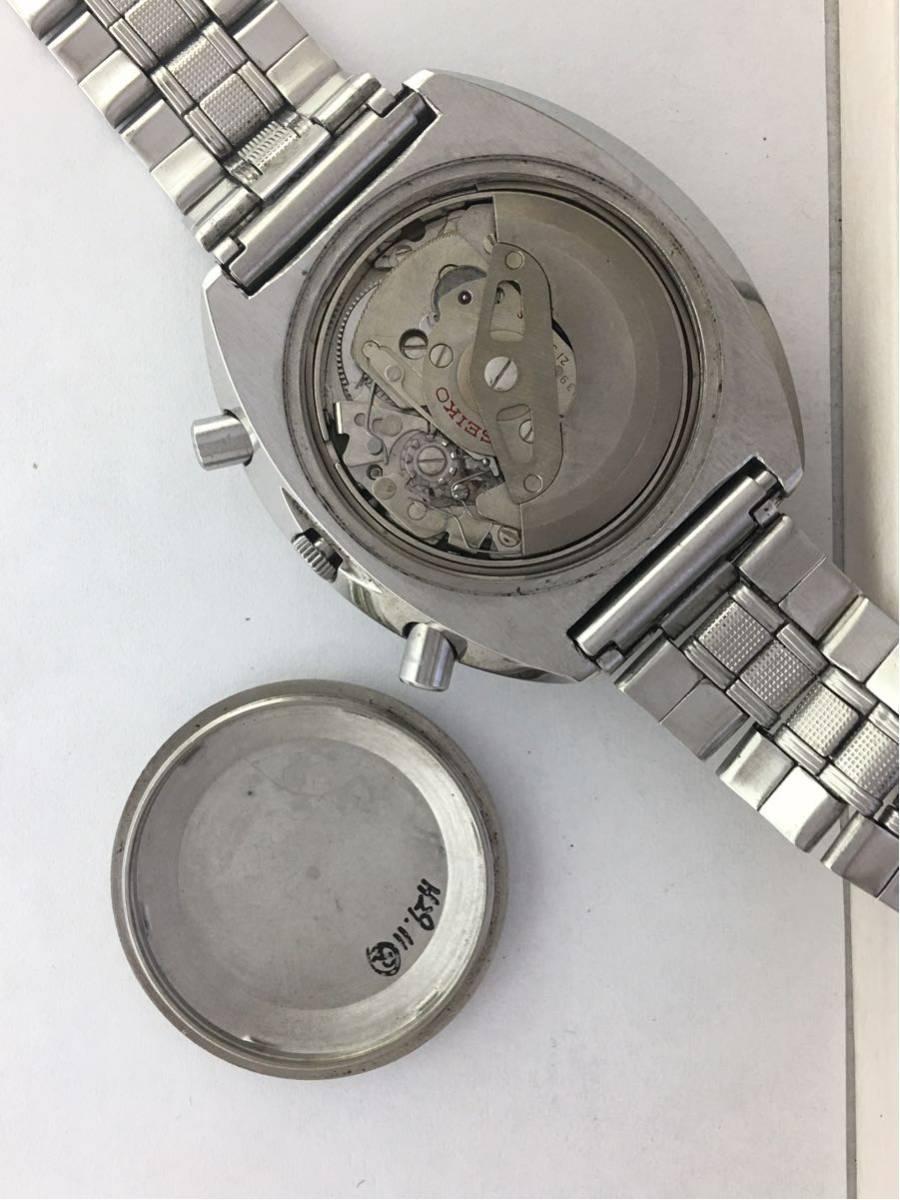 セイコー5スポーツ6139スピードタイマー腕時計メンズ機械式クロノグラフ分解掃除済みOH良好1円~_画像3
