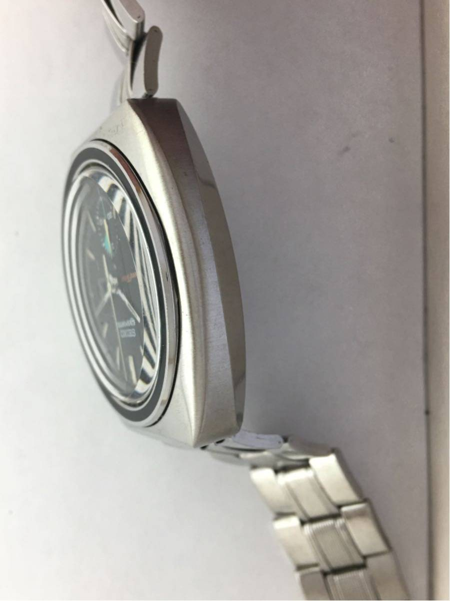 セイコー5スポーツ6139スピードタイマー腕時計メンズ機械式クロノグラフ分解掃除済みOH良好1円~_画像5