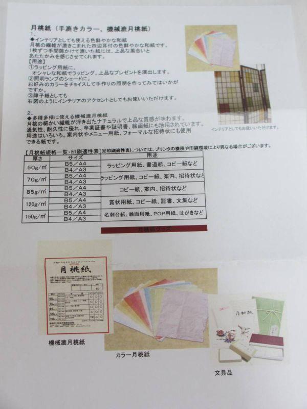 月桃紙 琉球紙舗 日本月桃/和紙 A4 70g/㎡ 100枚 _画像8