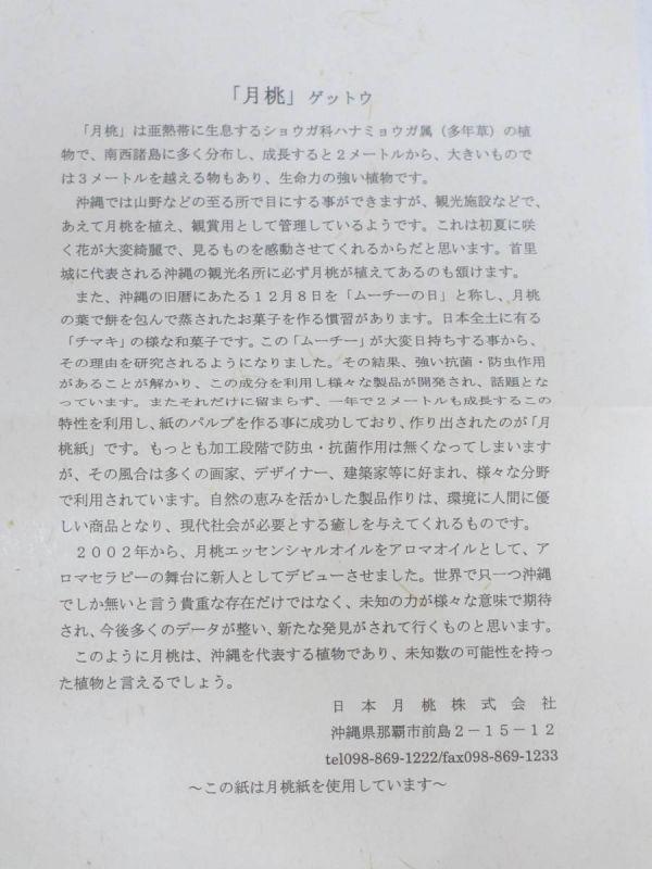 月桃紙 琉球紙舗 日本月桃/和紙 A4 70g/㎡ 100枚 _画像7