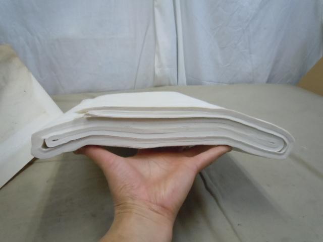□高級純手漉和紙 精華堂 特撰 山實 8尺 聯落 書道 半紙 画仙紙 五十枚仕立_画像6