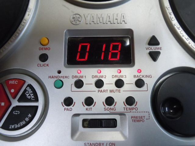 ☆YAMAHA DD-55 デジタルパーカッション ヤマハ STEREO SAMPLED DRUM 電子ドラム MIDI オリジナルの電源アダプター付き スティックおまけ_画像2