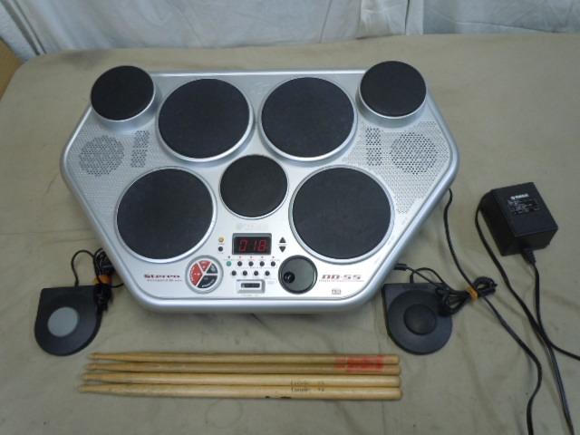 ☆YAMAHA DD-55 デジタルパーカッション ヤマハ STEREO SAMPLED DRUM 電子ドラム MIDI オリジナルの電源アダプター付き スティックおまけ