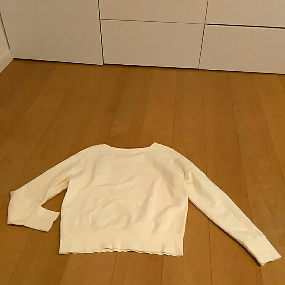 無印良品 良品計画 シンプル 定番ラグラン スウェット トレーナー L オフホワイト_画像3