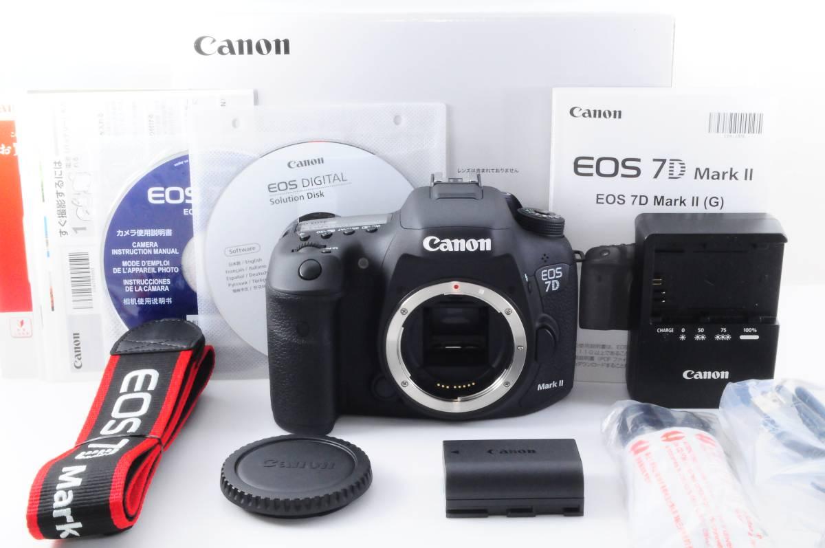 ★新品同然★Canon キヤノン EOS 7D Mark II マーク2 元箱、付属品充実!