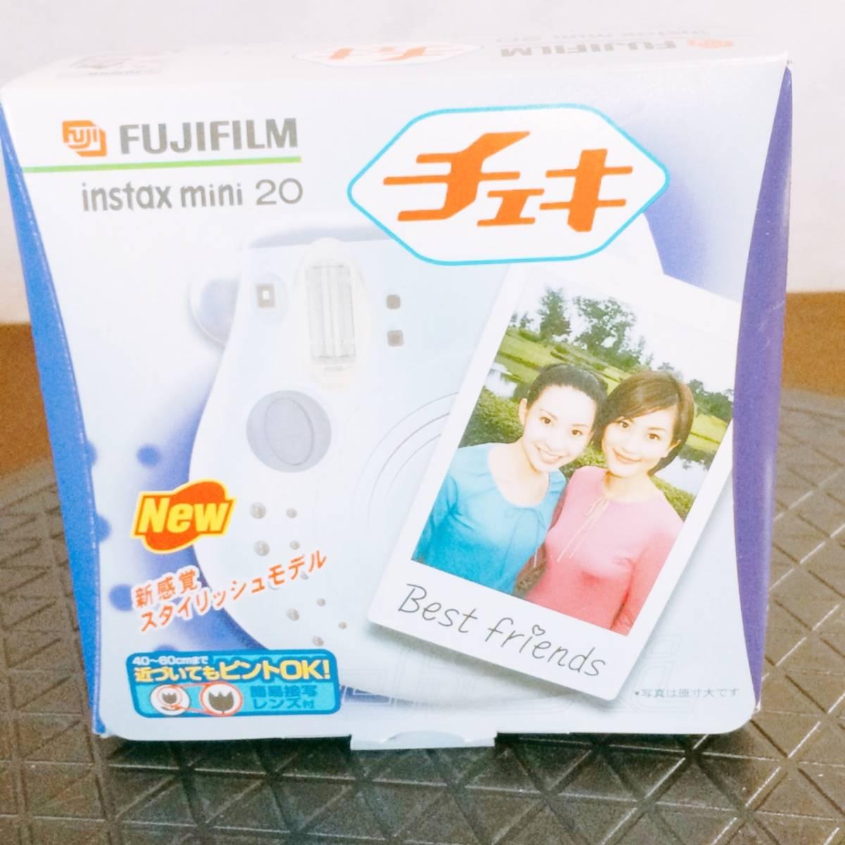 1円〜◆◇★新品未使用品★ FUJIFILM チェキ instax mini 20 インスタントカメラ ★フジフイルム