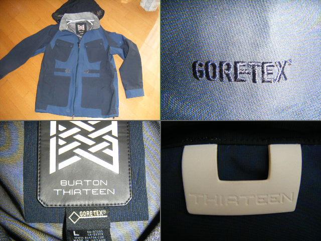 送料無料【新品未使用】Burton Thirteen RAF Jacket GORE-TEX サイズL 価格 62,640円 バートン ak 同等 マウンテンパーカー