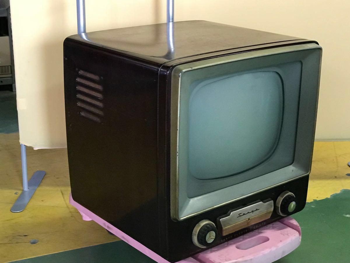 【希少品】昭和レトロ テレビ SANYO サンヨーテレビ インテリア ディスプレイ品