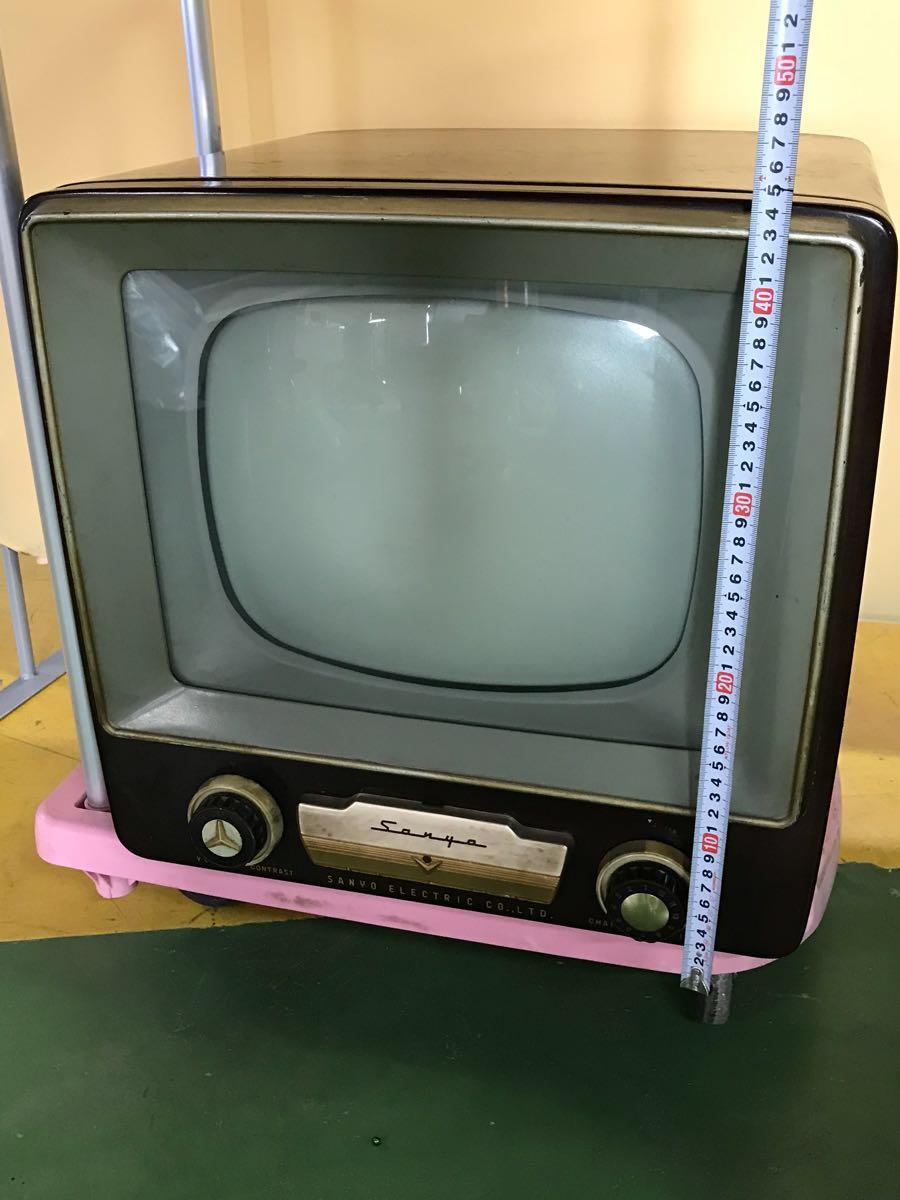 【希少品】昭和レトロ テレビ SANYO サンヨーテレビ インテリア ディスプレイ品_画像9