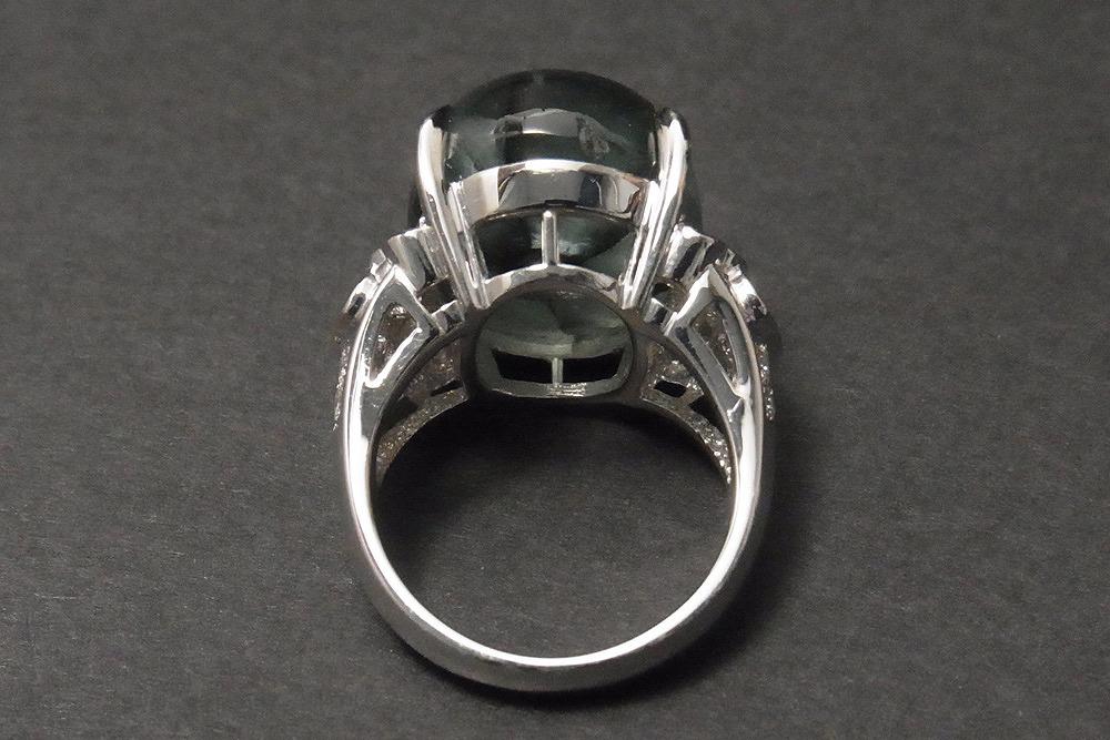 稀少 天然 トラピッチェエメラルド 21.43ct 上質メレダイヤモンド 1.16ct Pt900 リング 鑑別書 最高級_画像5