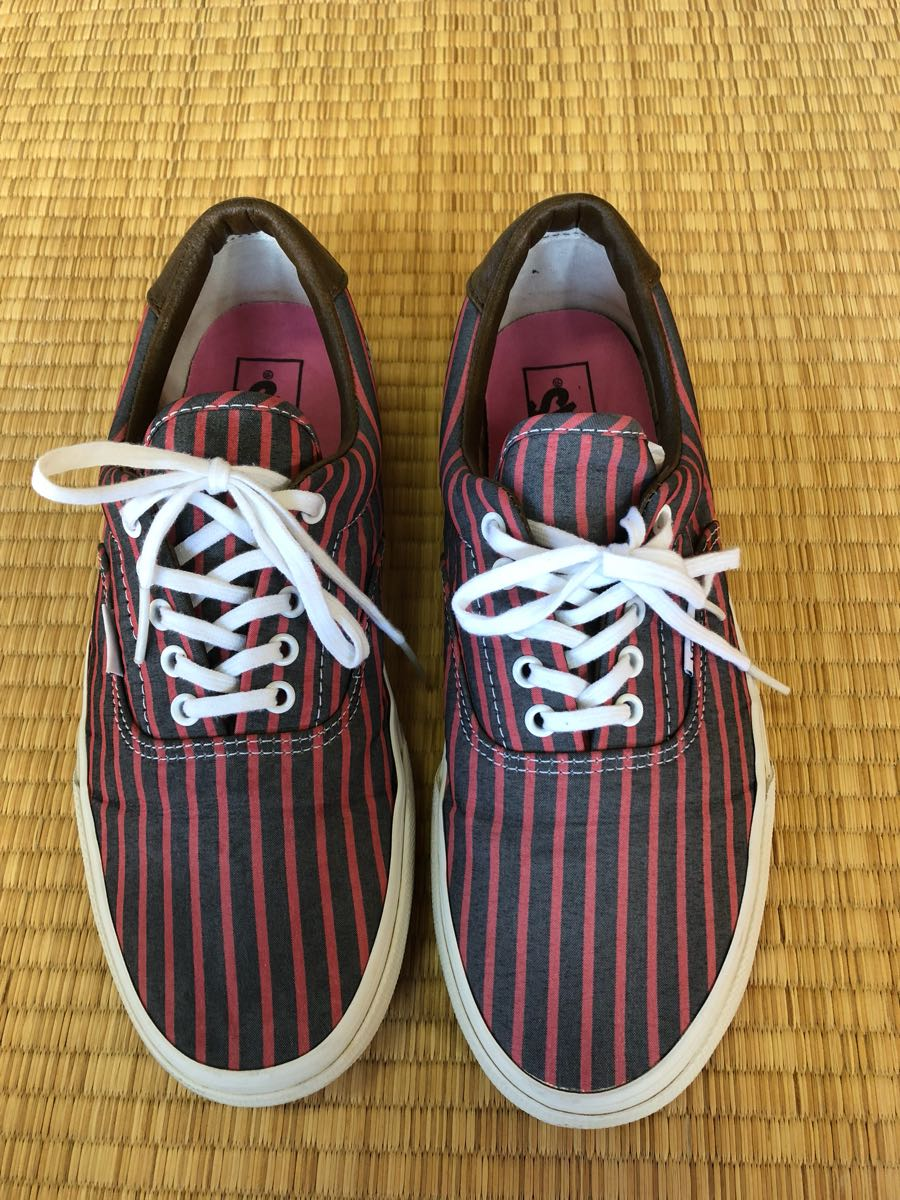 VANS ERA Vans elaUS9 27 centimeter pink black stripe border Old s cool  authentic tea ka 479319a244ce