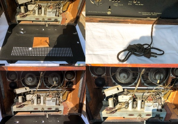 TELEFUNKEN Opus7 西ドイツ テルファンケン オプス7 真空管ラジオ ビンテージ_画像6