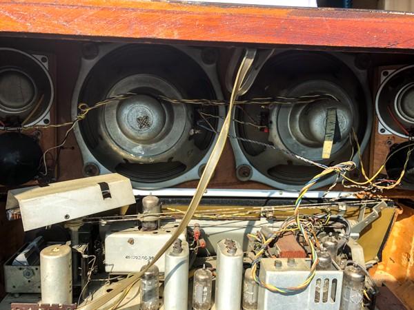TELEFUNKEN Opus7 西ドイツ テルファンケン オプス7 真空管ラジオ ビンテージ_画像7