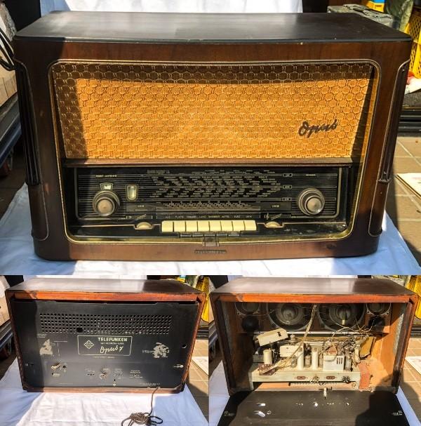 TELEFUNKEN Opus7 西ドイツ テルファンケン オプス7 真空管ラジオ ビンテージ