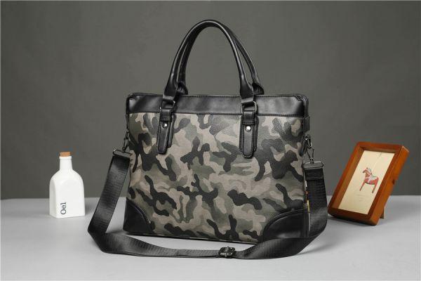 ★新品未使用★迷彩!カモフラ高級PU メンズ 2WAYトートバッグ 人気デザイン 書類鞄 大容