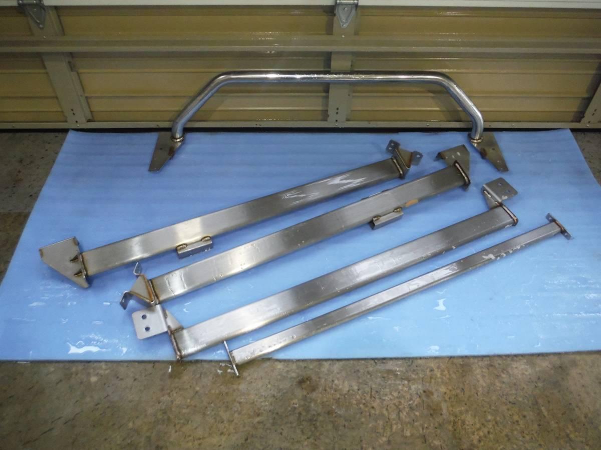 スルガスピード ハイグレード ハイエース 4型 3型 2型 1型 ワイドミドル 補強バー ステンレス 中古 美品