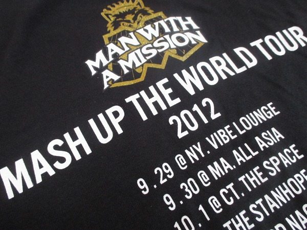【MAN WITH A MISSION】マンウィズアミッション◆MASH UP THE WORLD TOUR 2012 Tシャツ◆M_画像4