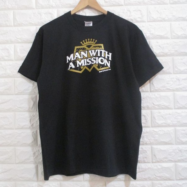 【MAN WITH A MISSION】マンウィズアミッション◆MASH UP THE WORLD TOUR 2012 Tシャツ◆M