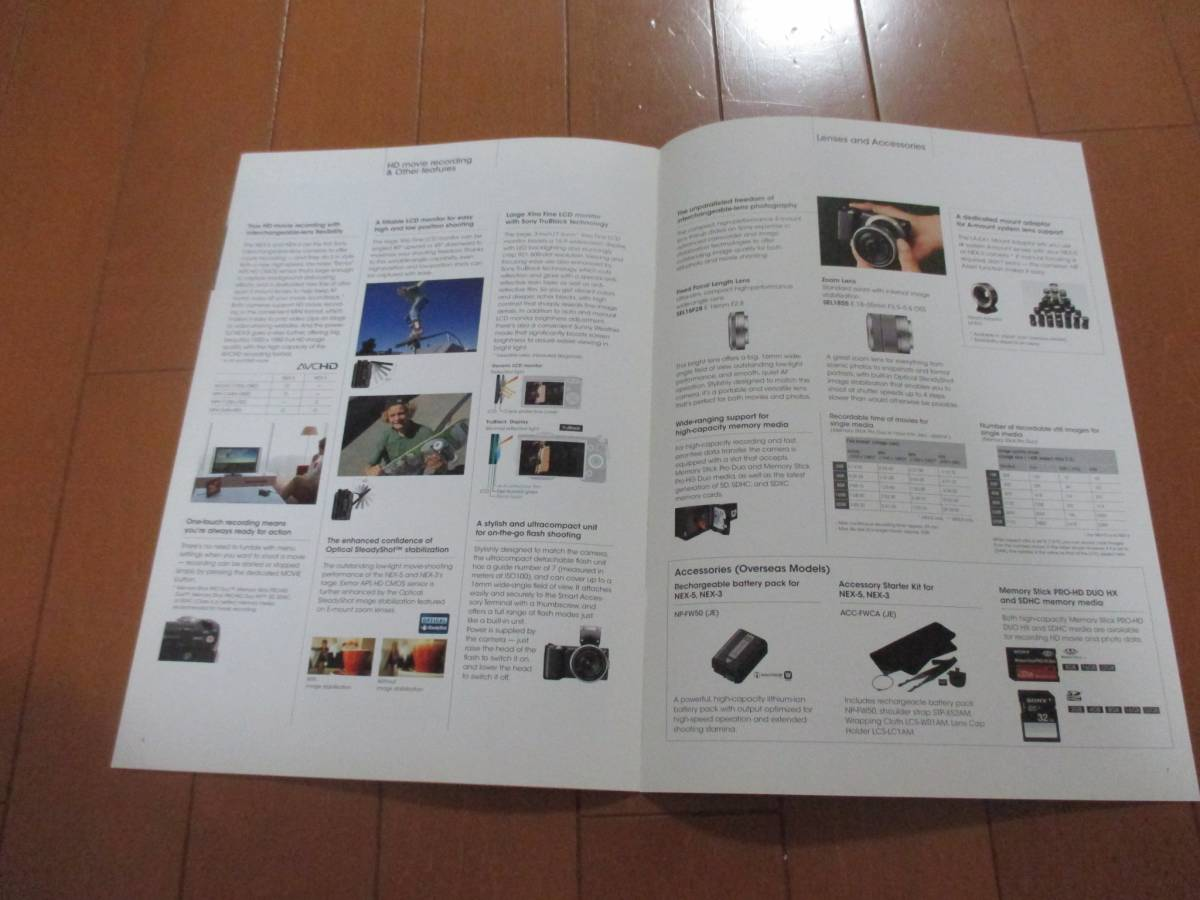 11641 catalog *SONY*α NEX-5 NEX-3 English 2010 issue 6 page