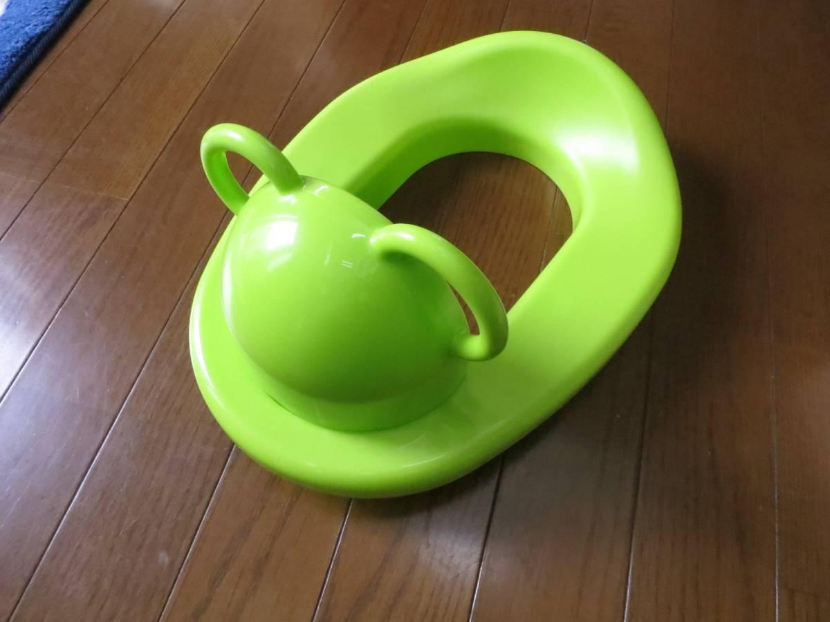 アカチャンホンポ 赤ちゃんトイレの練習に! 大人用様式トイレの上にに取り付けます、 箱付美品です。_画像2