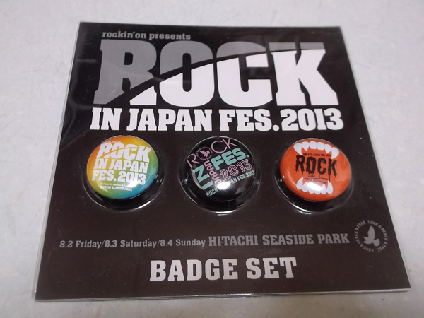 ≫ ROCK IN JAPAN FES.2013 【 缶バッジ3個セット 】 未開封新品♪